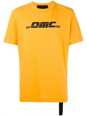 Футболка с принтом логотипа Omc. Цвет: жёлтый и оранжевый
