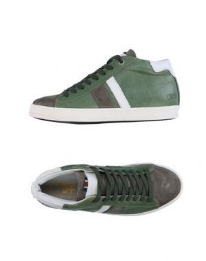 Высокие кеды и кроссовки D'ACQUASPARTA. Цвет: зеленый