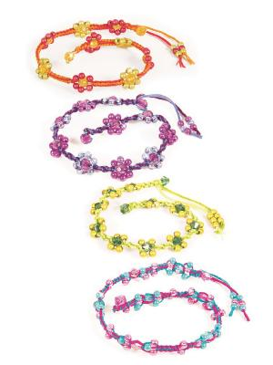 Набор Модные браслеты STYLE ME UP. Цвет: зеленый, белый, розовый