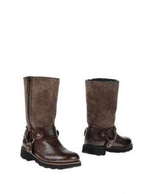 Полусапоги и высокие ботинки PROGETTO GLAM. Цвет: свинцово-серый