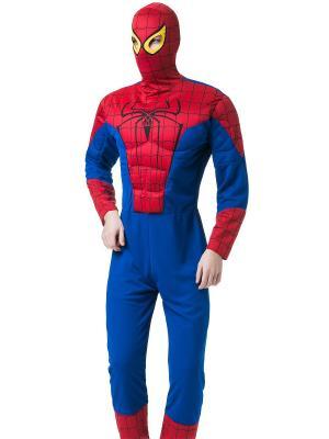 Костюм спайдермена, человека паука, супергероя La Mascarade. Цвет: синий, красный, черный