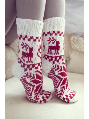 Носки Непростые вещи. Цвет: красный