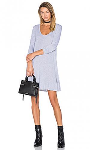 Платье с овальным вырезом lily LA Made. Цвет: серый