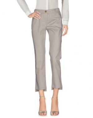 Повседневные брюки MYF. Цвет: серый