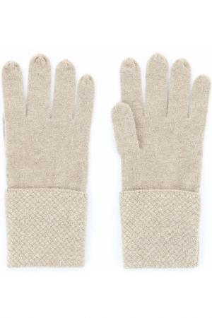 Перчатки William Sharp. Цвет: бежевый