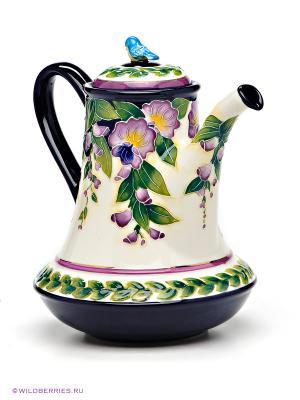 Заварочный чайник Blue Sky. Цвет: зеленый, молочный, сиреневый, темно-синий