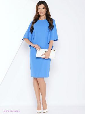 Платье MARBI. Цвет: голубой