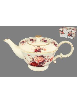 Чайник Бархатный нектар Elan Gallery. Цвет: бежевый, розовый, красный