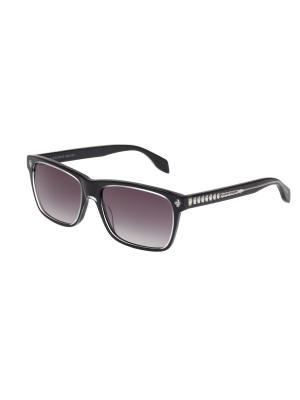 Солнцезащитные очки Alexander McQueen. Цвет: черный