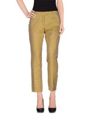 Повседневные брюки MONOCROM. Цвет: желтый