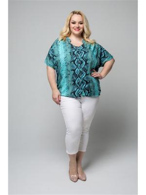 Блузка GRANDAZA. Цвет: бирюзовый