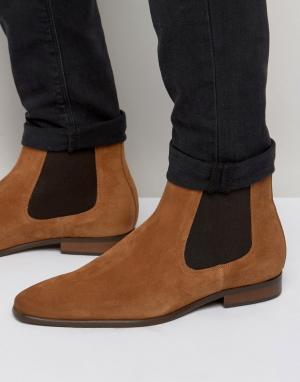 KG Kurt Geiger Замшевые ботинки челси Francis. Цвет: коричневый