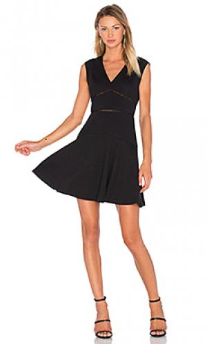 Мини платье taylor Rebecca. Цвет: черный