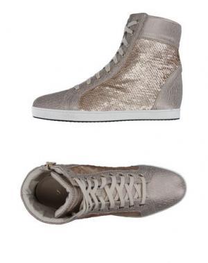 Высокие кеды и кроссовки STOKTON. Цвет: серый