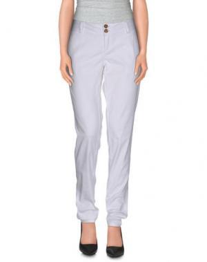 Повседневные брюки TIMEOUT. Цвет: белый