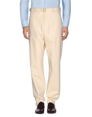 Повседневные брюки UMIT BENAN. Цвет: слоновая кость
