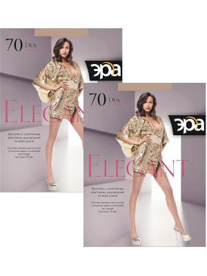 Колготки Elegant 70, 2 пары ЭРА.. Цвет: бронзовый