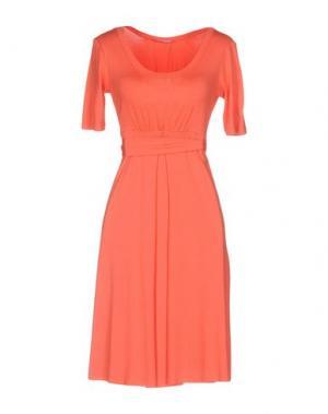 Короткое платье FRANCESCA FERRANTE. Цвет: коралловый