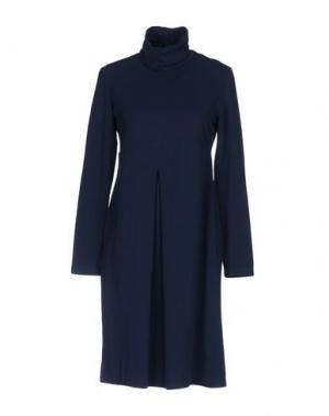 Платье до колена EUROPEAN CULTURE. Цвет: синий