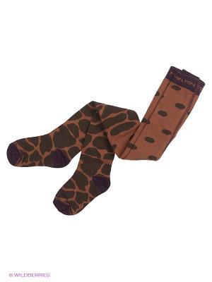 Колготки MELTON. Цвет: коричневый