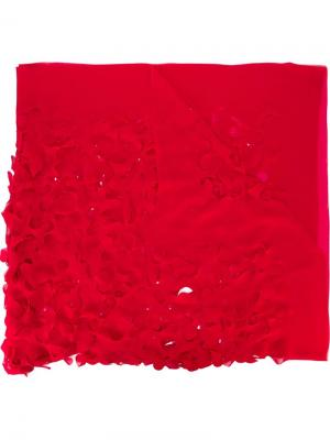 Шарф с резным узором Maria Calderara. Цвет: красный