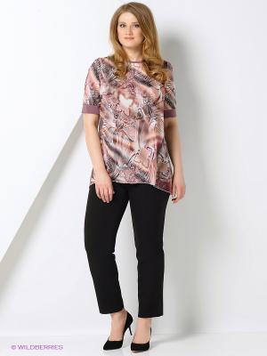 Туника Milana Style. Цвет: коричневый