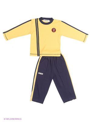 Комплект одежды Kidly. Цвет: синий, желтый