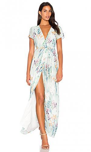 Макси платье spring st. Yumi Kim. Цвет: серовато-зеленый