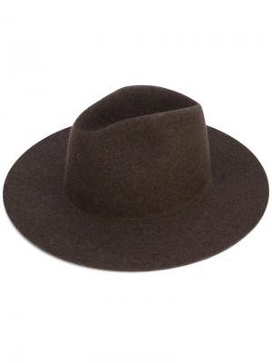 Шляпа Midnight Études. Цвет: коричневый