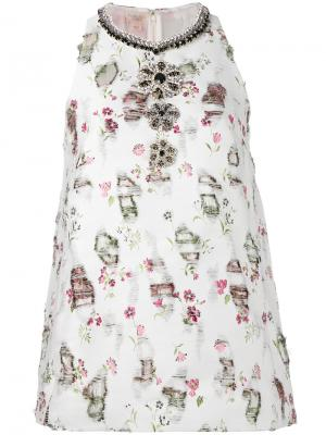 Декорированная блузка Giambattista Valli. Цвет: белый