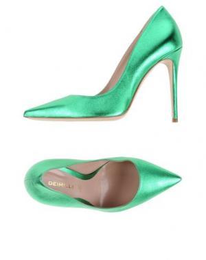 Туфли DEIMILLE. Цвет: зеленый