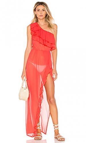 Платье cabaret Luli Fama. Цвет: красный