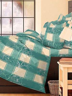 Комплект постельного белья Хельга Волшебная ночь. Цвет: бежевый, зеленый