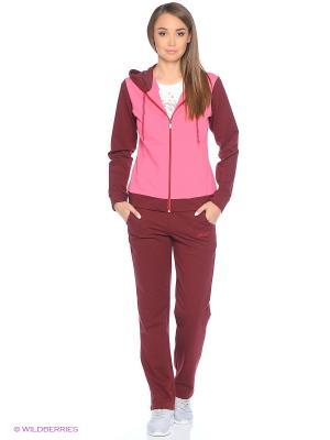 Спортивный костюм FORLIFE. Цвет: бордовый, розовый