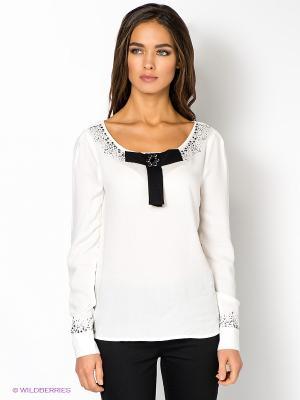 Блузка PAVILLONS MET. Цвет: молочный