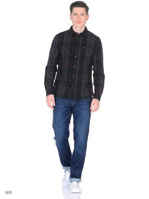 Рубашка 2PKT Wrangler. Цвет: коричневый