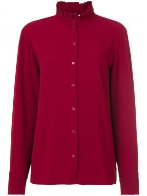 Рубашка с плиссированным воротником Vanessa Bruno. Цвет: красный