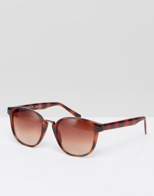 AJ Morgan Солнцезащитные очки в круглой черепаховой оправе ржавого цвета Morg. Цвет: коричневый