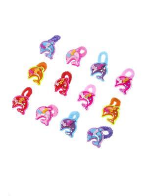 Резинки для волос (12 шт.) Migura. Цвет: розовый, синий, зеленый