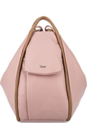 Сумка-рюкзак из натуральной кожи Bruno Rossi. Цвет: розовый
