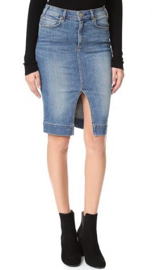 Винтажная юбка Marino McGuire Denim. Цвет: насыщенный синий