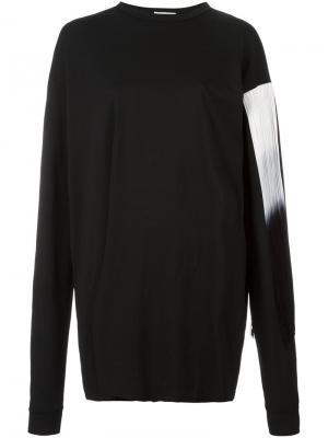 Платье-свитер с бахромой Aries. Цвет: чёрный