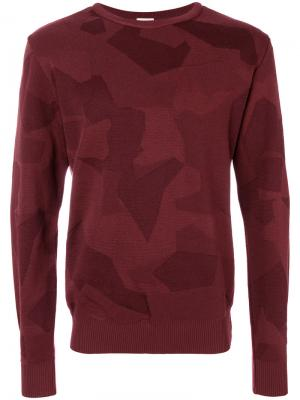 Классический трикотажный свитер S.N.S. Herning. Цвет: красный