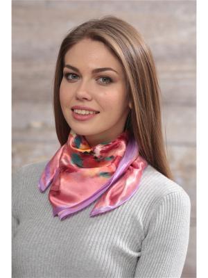 Платок FOMAS. Цвет: бордовый, розовый