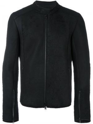 Кожаная куртка со стоячим воротником Isabel Benenato. Цвет: чёрный