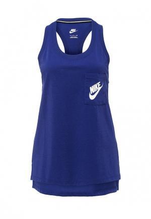 Майка Nike. Цвет: синий