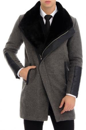 Пальто RNT 23. Цвет: серый