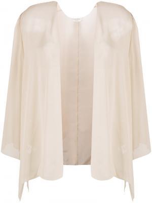 Легкий пиджак Halston Heritage. Цвет: телесный