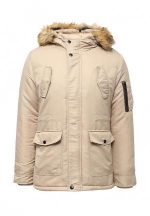 Куртка утепленная Aarhon. Цвет: бежевый