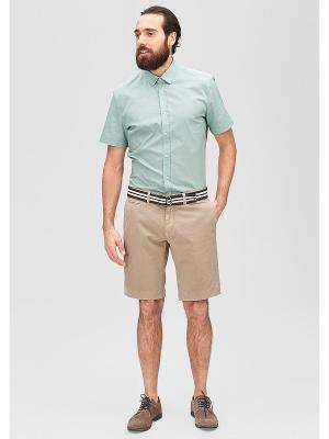 Рубашка Regular Fit S.OLIVER. Цвет: серо-зеленый